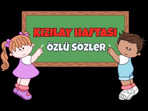 Kizilay Haftasi Guzel Sozler Youtube