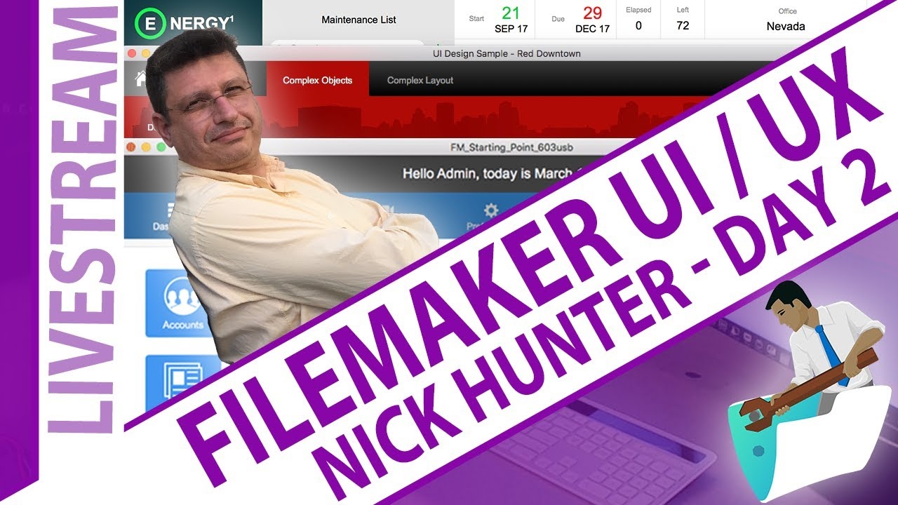 Download FileMaker UI/UX with Nick Hunter - Day 2