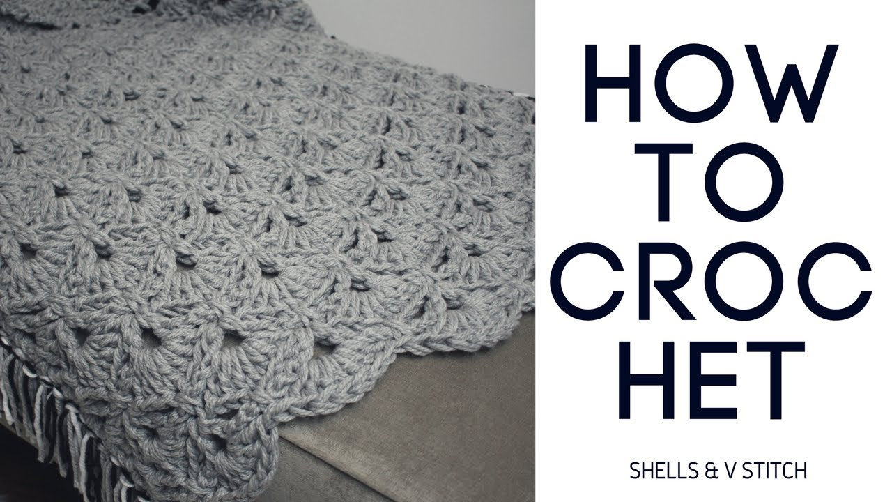 How To Crochet Shells V Stitch Youtube
