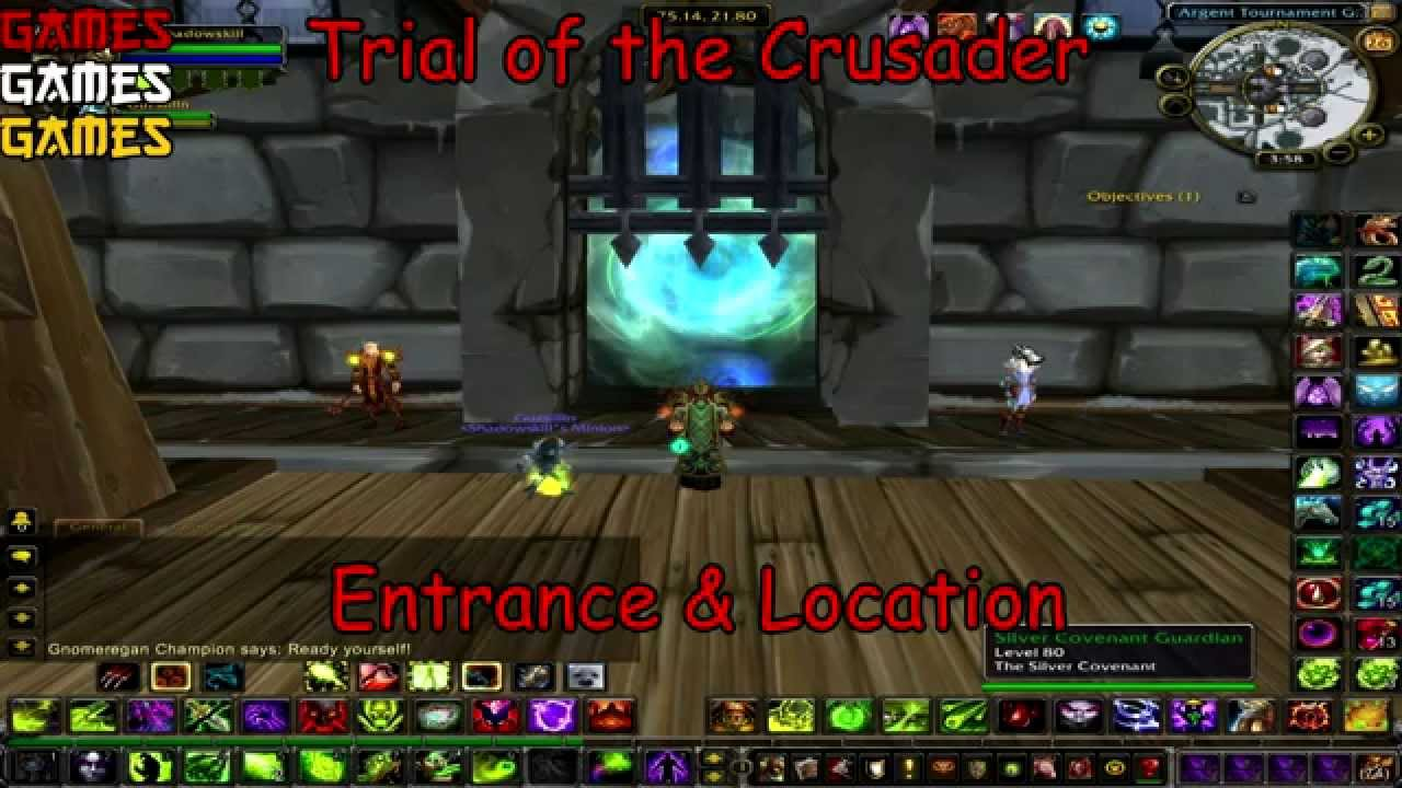 Trial Of The Crusader Raid Entrance And The Location Youtube