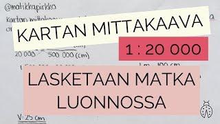 Mittakaava: lasketaan kartan matka luonnossa! 🌲 // Matikkapirkko