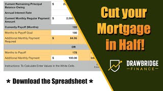 Calculate Months to payoff Mortgage