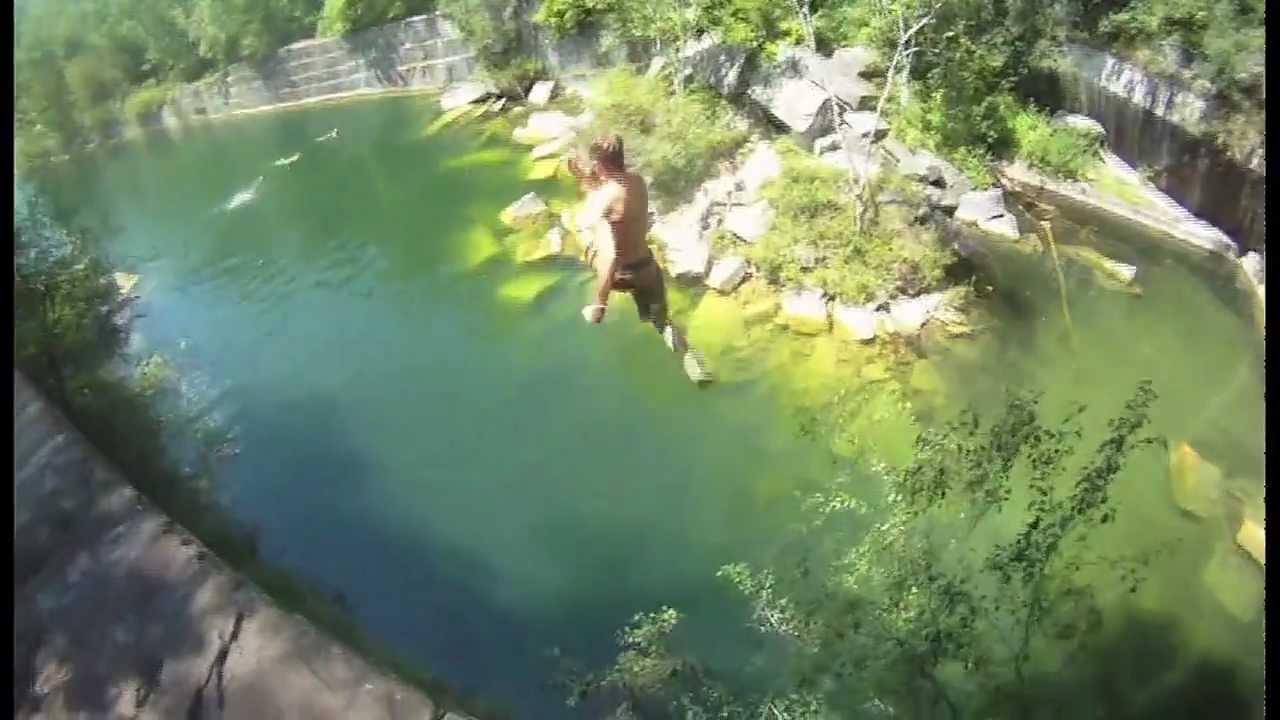 Dorset Quarry VT GoPro Cliff Jumping