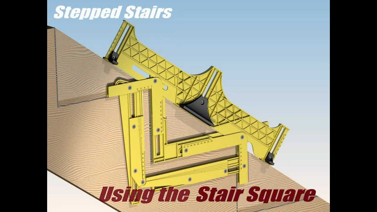 Carpentry, Stair Layout Framing Square - YouTube