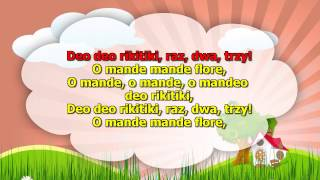 Karaoke dla dzieci - O mande mande flore - z wokalem