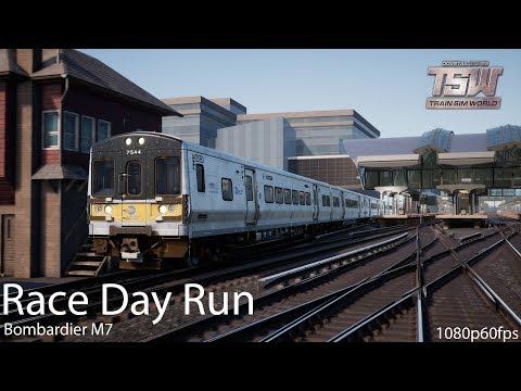 Race Day Run : Long Island Rail Road : Train Sim World 1080p60fps
