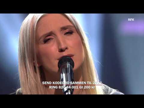 "Christel Alsos ""Found"" performed Iive at NRK ""Dugnad for flyktningene"""