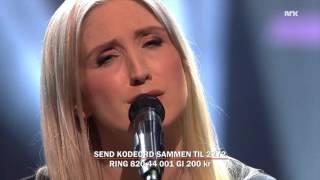 "Christel Alsos ""Found"" performed Iive at NRK ""Dugnad for flyktningene"""