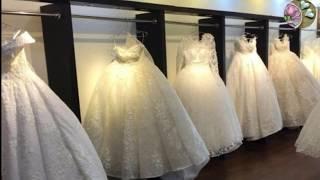 تشكيلة من اجمل فساتين الزفاف للمحجبات والاسعار من اتيلية  فستانى