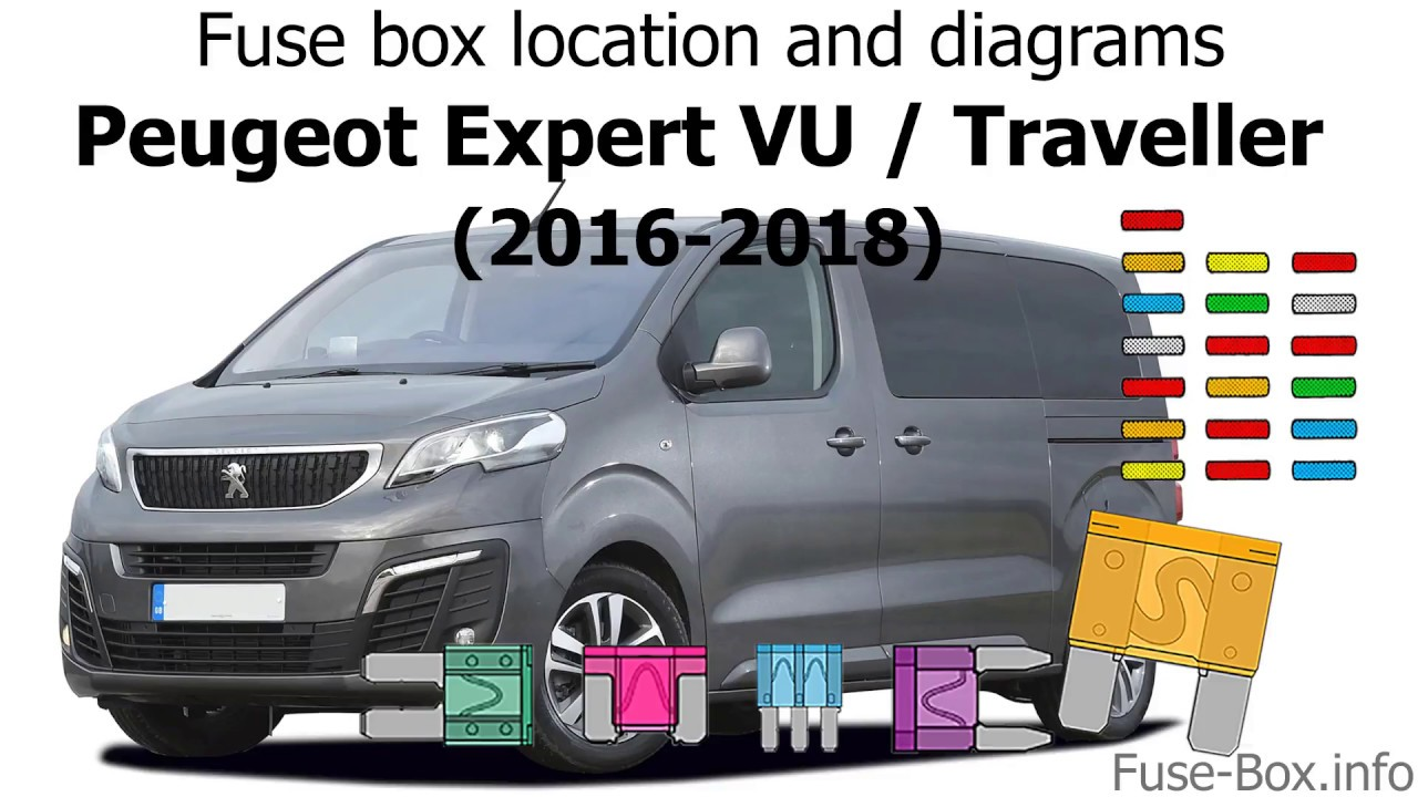 fuse box location and diagrams peugeot expert vu traveller 2016 2018  [ 1280 x 720 Pixel ]