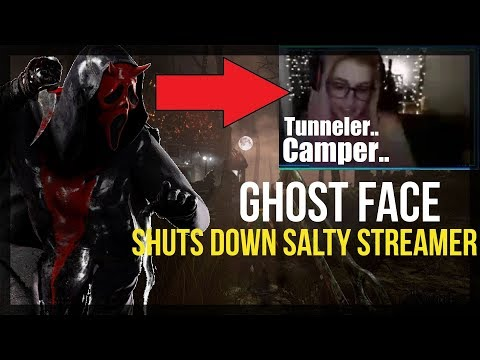 Ghost Face SHUTS DOWN Salty Toxic Streamer QUAD Survivors | Dead By Daylight