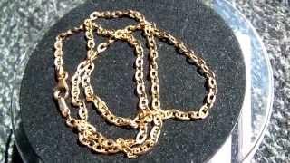 18kt Gold Milor Italy Mirror Polish Curb LInk Chain 18