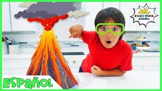 Volcano Science Experiment para que los niños hagan en casa con vinagre y bicarbonato de sodio