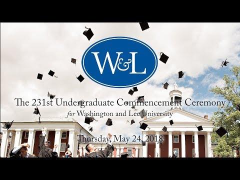 Washington and Lee University Undergraduate Commencement 2018