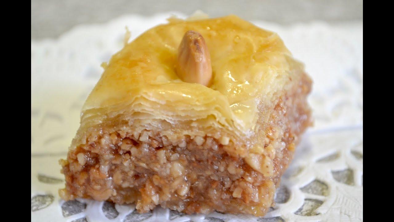 baklava 224 la p 226 te filo baklawa recipe بقلاوة تركية بعجينة الفيلو السهلة مصنوعة في البيت