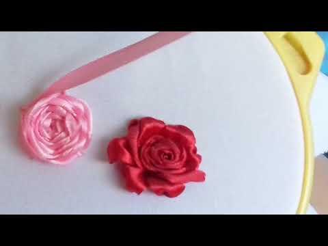 Вышиваем розы атласными лентами| 3 способа | Мастер-класс Милины Журавлевой