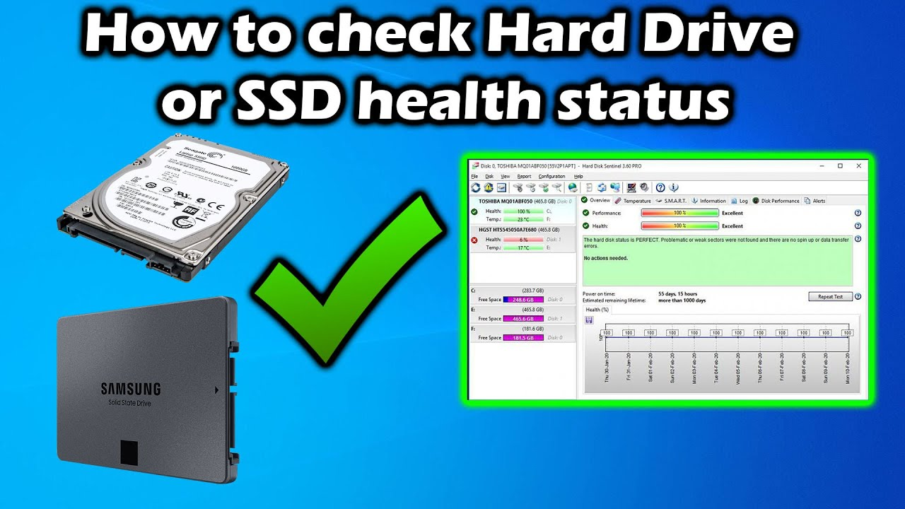 How to check HDD or SSD health status