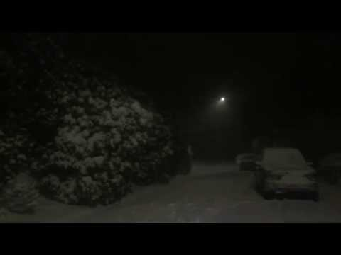 Thundersnow in Portland caught on camera