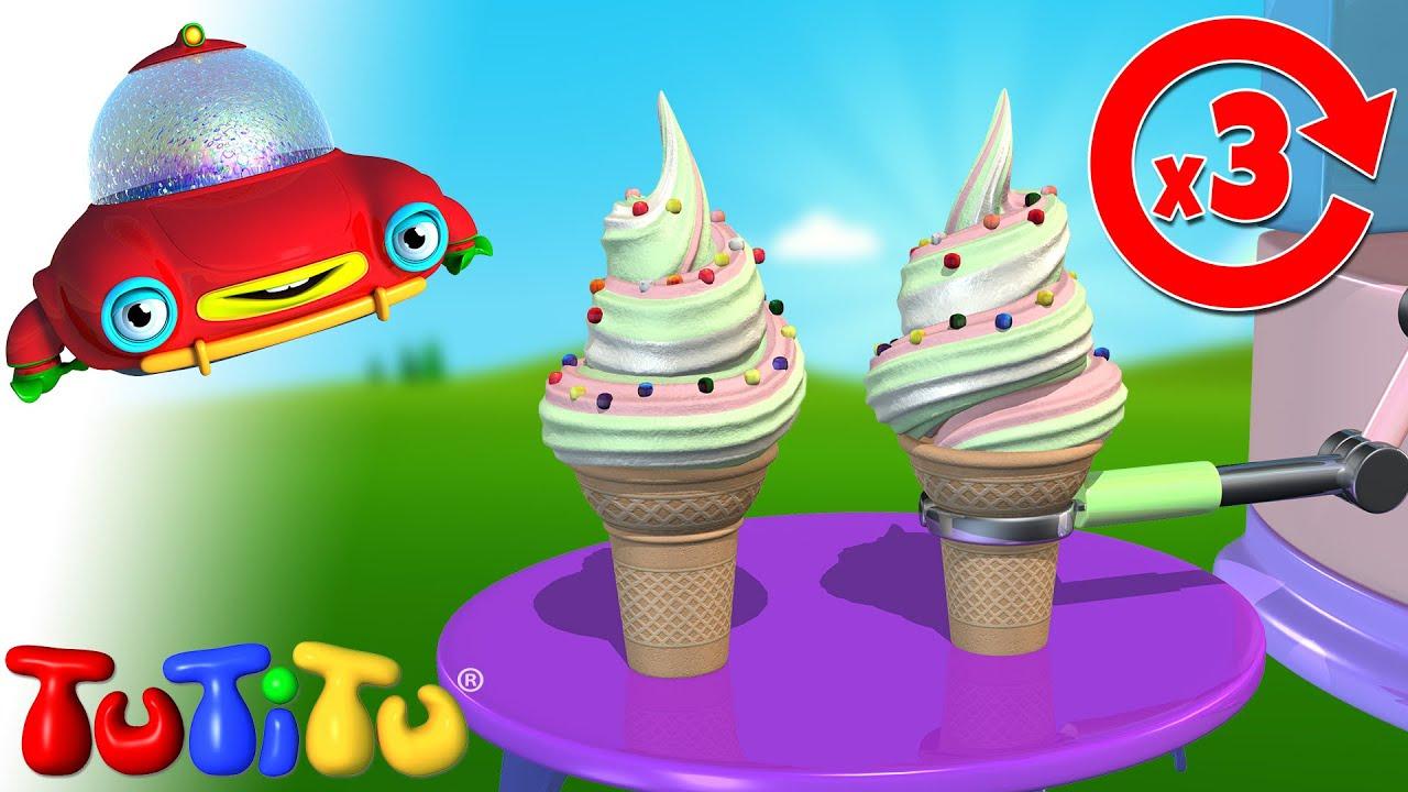 ไอศครีม - เรียนรู้วิธีสร้างของเล่น TuTiTu | วิดีโออีกครั้งสำหรับเด็กทารก