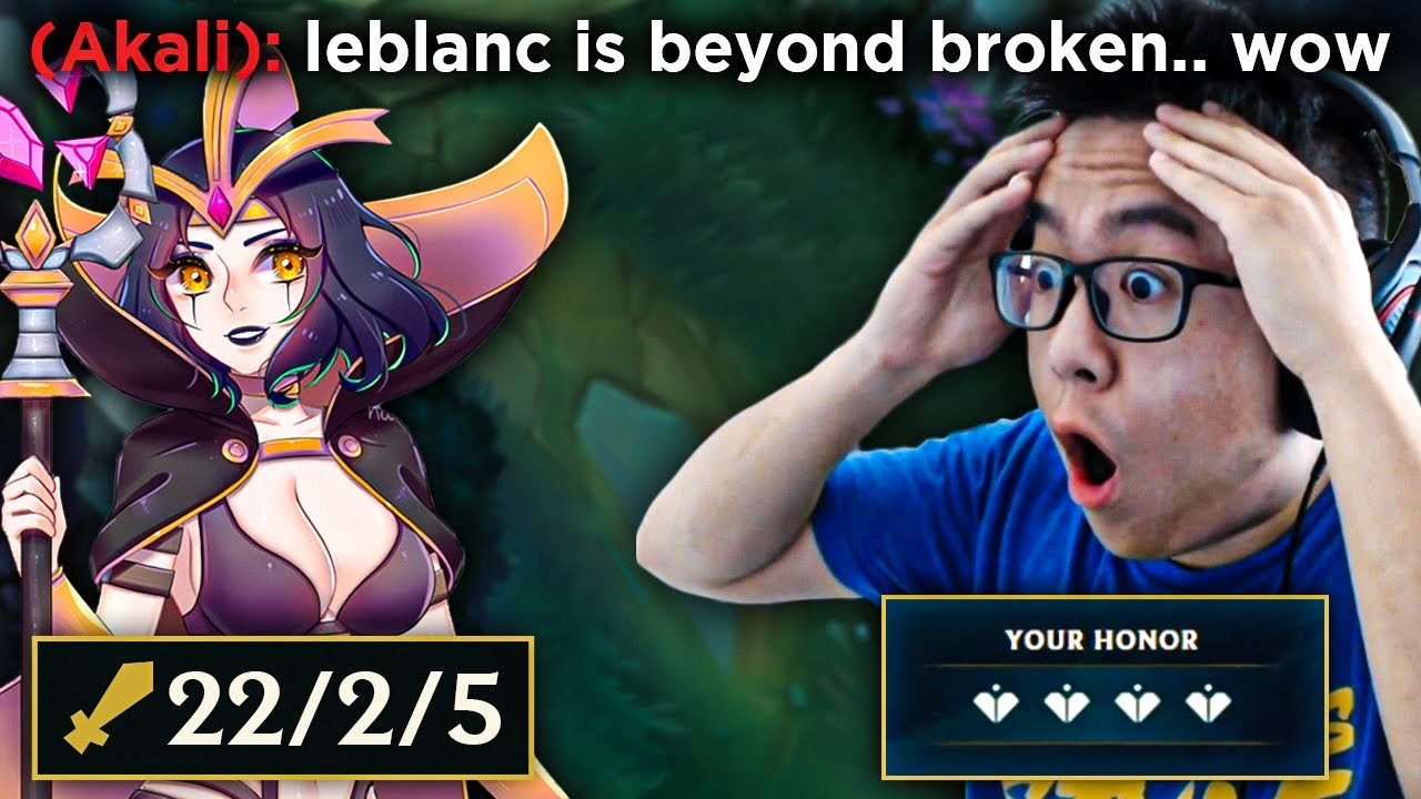 This is why Leblanc is S+ tier in the game right now. Leblanc Unleashed.