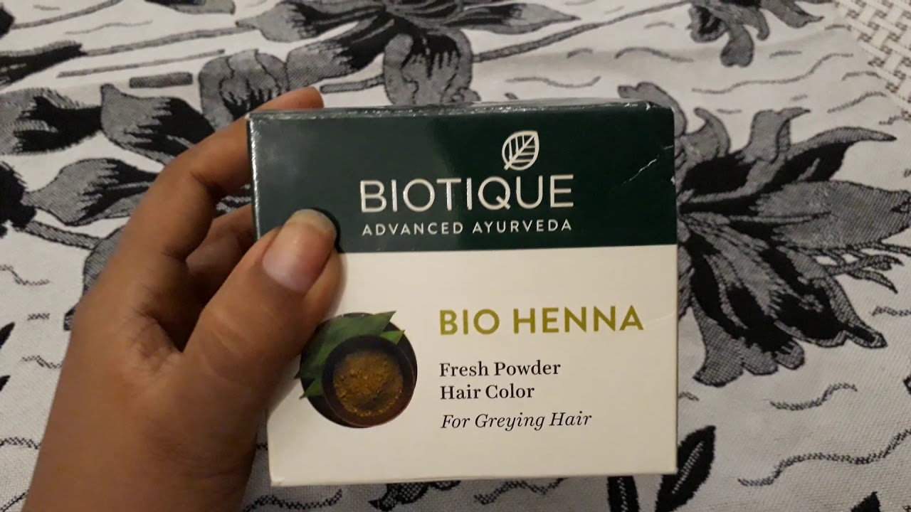 Boutique Product Bio Henna Hair Color Review Youtube