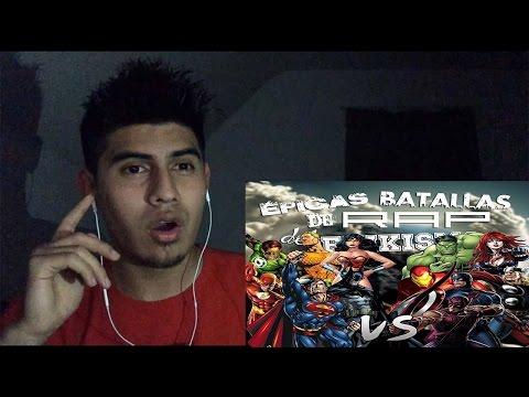 Los Vengadores vs La Liga de la Justicia Rap   Keyblade   video reaccion