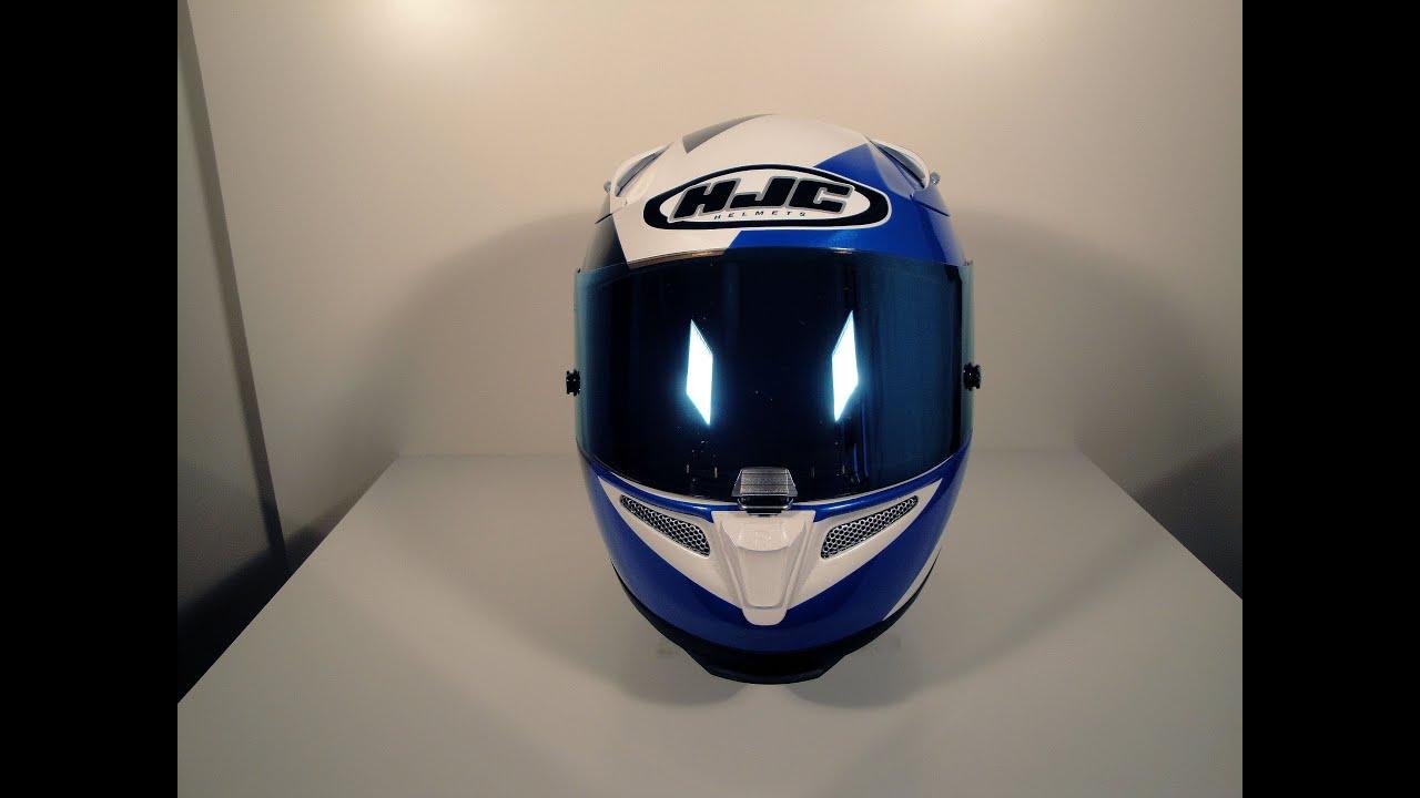 c5252317 HJC RPHA 10 PLUS ANCEL with blue mirror shield - YouTube