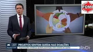 Entrega de marmitas na comunidade de Brasilândia Znorte de SP