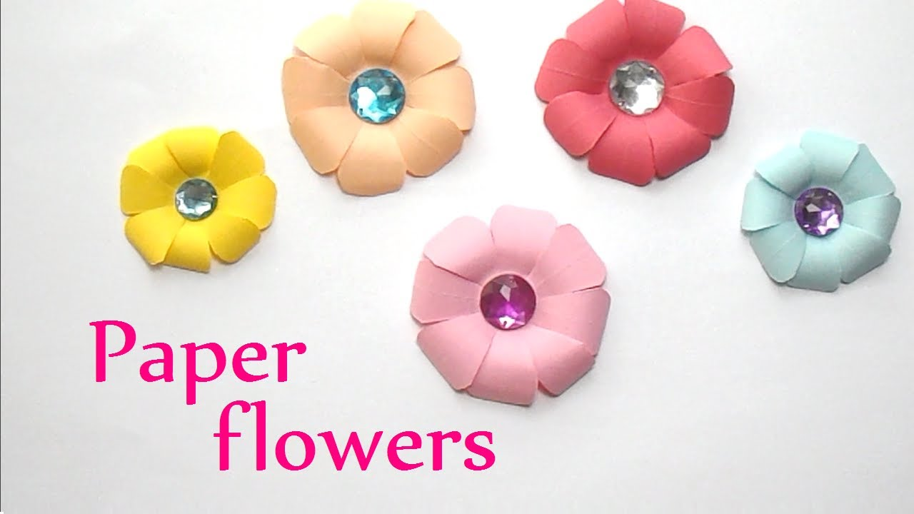 Diy crafts paper flowers very easy innova crafts youtube mightylinksfo