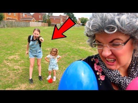 Greedy Granny Plays Hide And Seek With Ruby Rube & Bonnie Kids Pretend Play