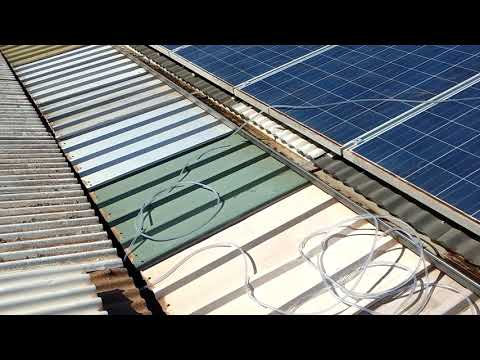 How to wash my Solar Panels on the roof Renmark and Loxton.