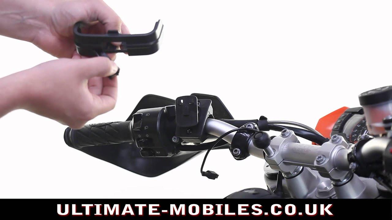 TomTom Rider Pro Motorcycle Handlebar Holder Mount by UltimateAddons - YouTube