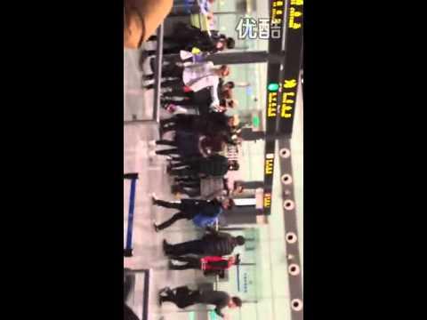 140215 EXO @ Changsha Airport
