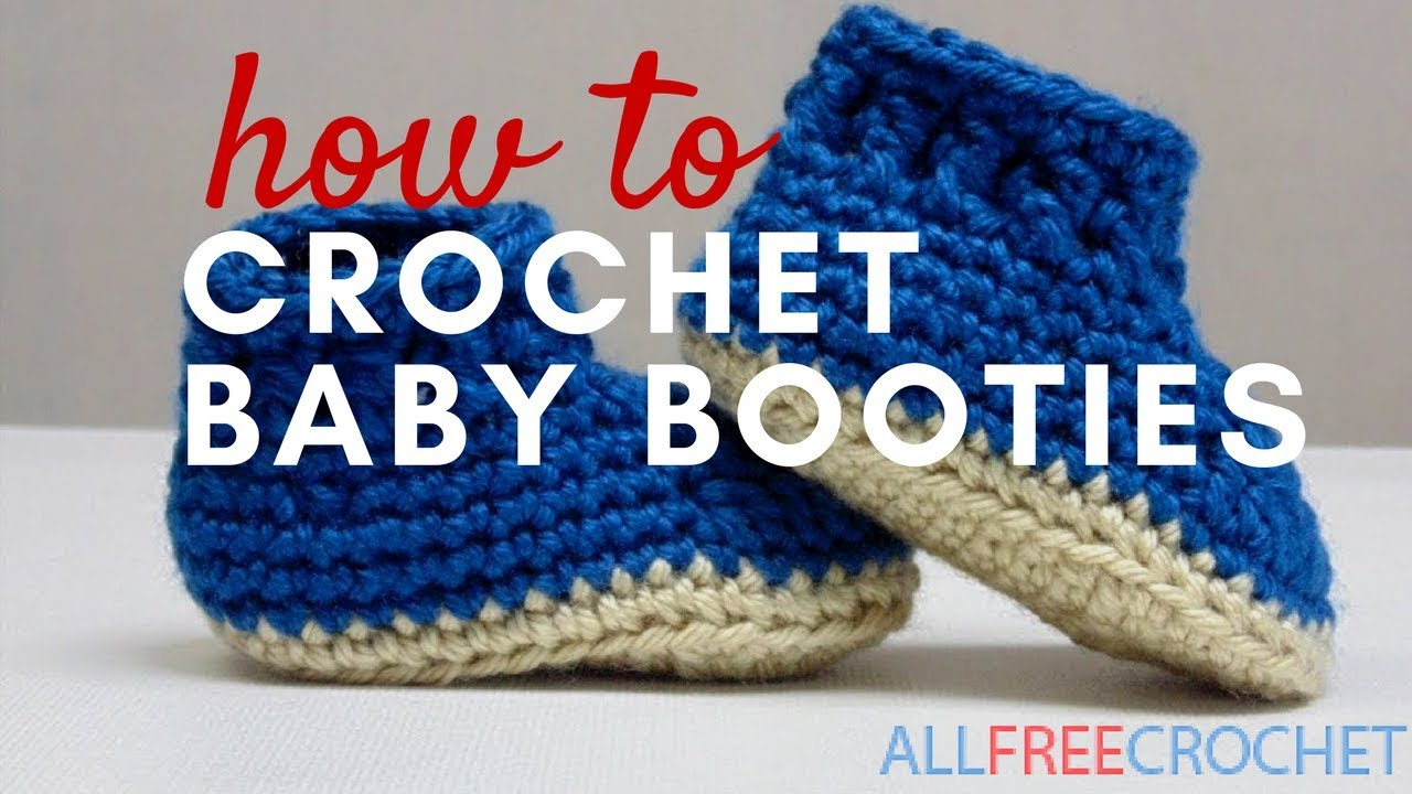 704acac68915 How to Crochet Baby Booties - YouTube