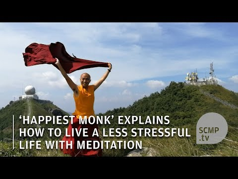 'Happiest man' in the world explains how Hongkongers can live a less stressful life with meditation