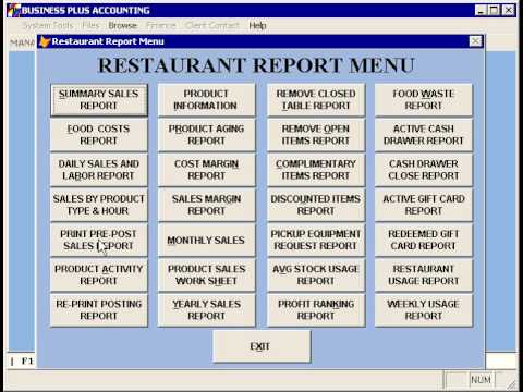 daily sales report for restaurant