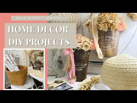 HOME DECOR DIY PROJECTS! CHIC FRENCH COUNTRY DECOR FOR YOUR HOME!