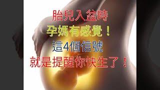 胎兒入盆時,孕媽有感覺!這4個信號,就是提醒你快生了!