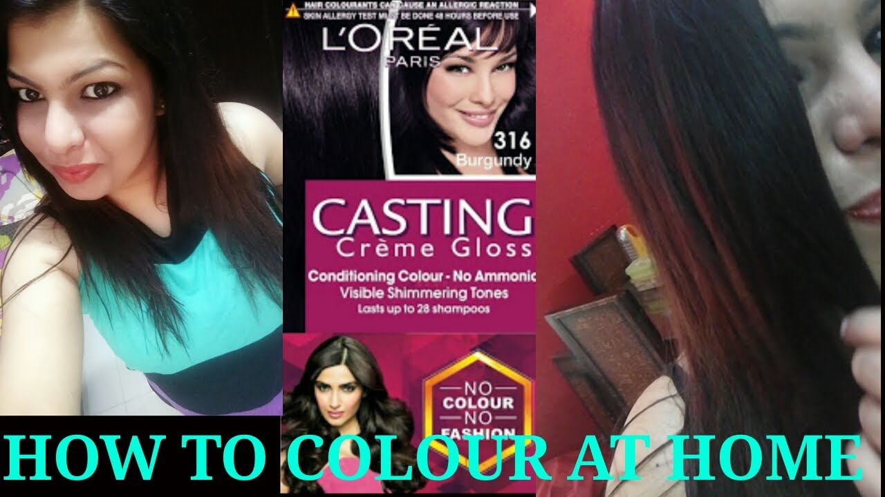 How To Instantly Colour Your Hairs At Home Loreal Casting Cream