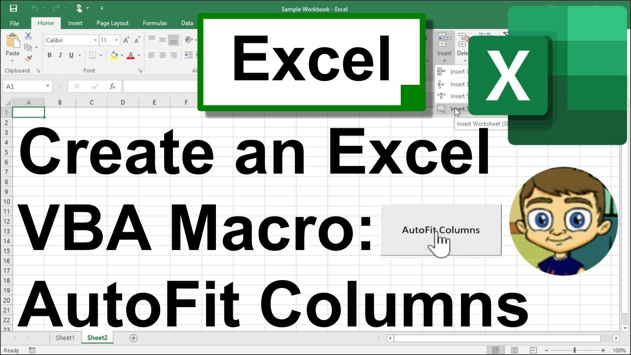 Create an Excel Macro from Scratch : AutoFit Columns