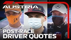 2020 Austrian Grand Prix: Post-Race Driver Reaction