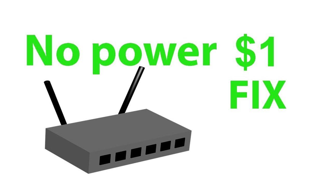 Modem router won't start, no power, no internet