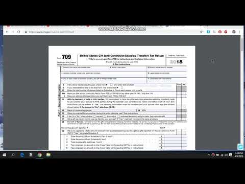 IRS 709 Form GIFT WERE BANKS TO PAY TAXES HENCE FRAUD