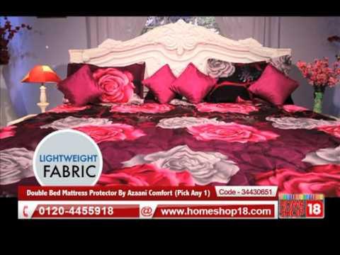 Homeshop18.com - Double Bed Mattress Protector By Azaani Comfort ...