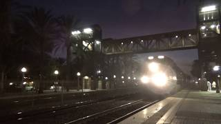 BNSF E/B Stack train going through Fullerton station 2020-01-25