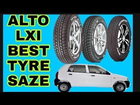 Alto LXI best tyre size🔥alto lxi car tyre size