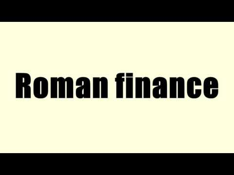 Roman finance