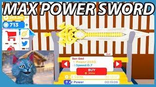 Buying The Max Power Sun God Sword In Roblox Samurai Simulator