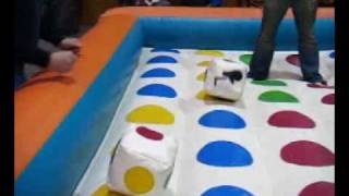 Giant Twister Game, A Bouncy Twist On An Old Favorite,