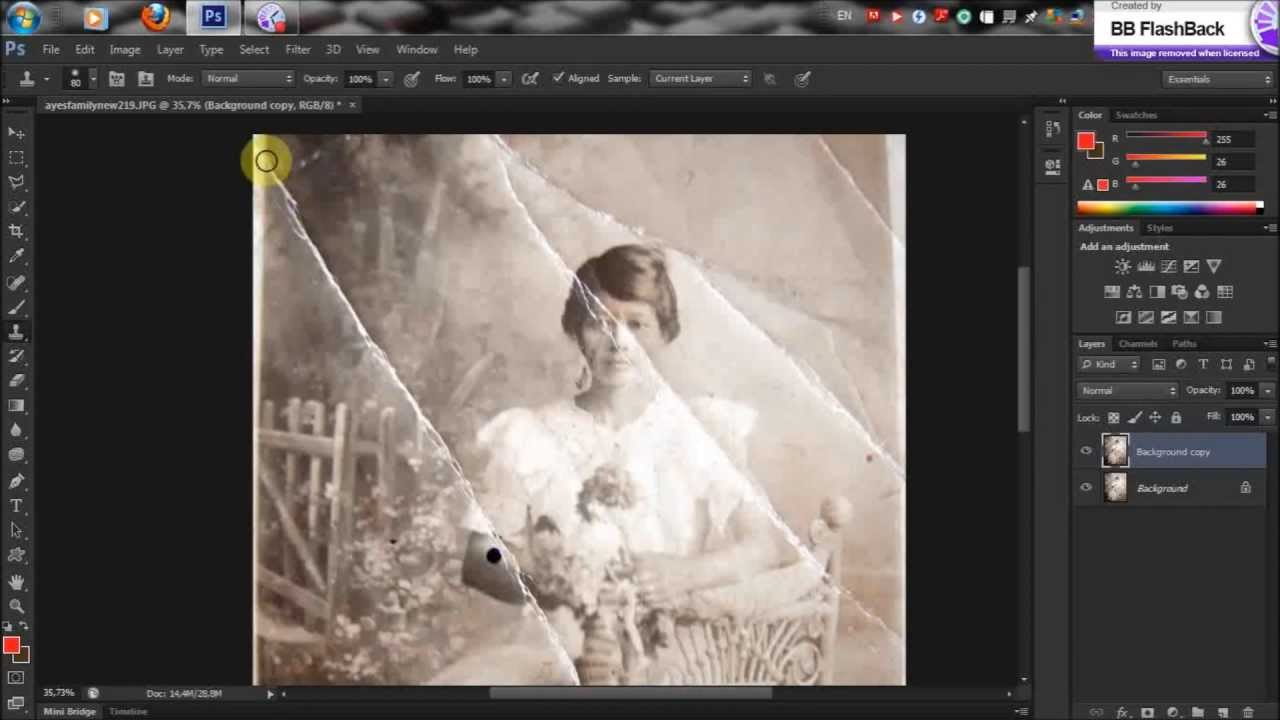 photoshop cs6 - how to make an old photography look like new (HD ...